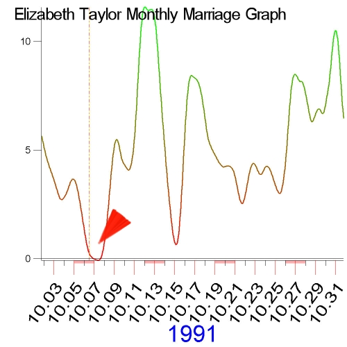 1991 Marriage Graph of Elizabeth Taylor